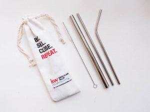 ống hút kim loại - metal stainless steel straws