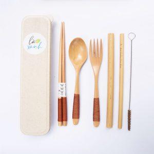 bộ muỗng nĩa gỗ 4