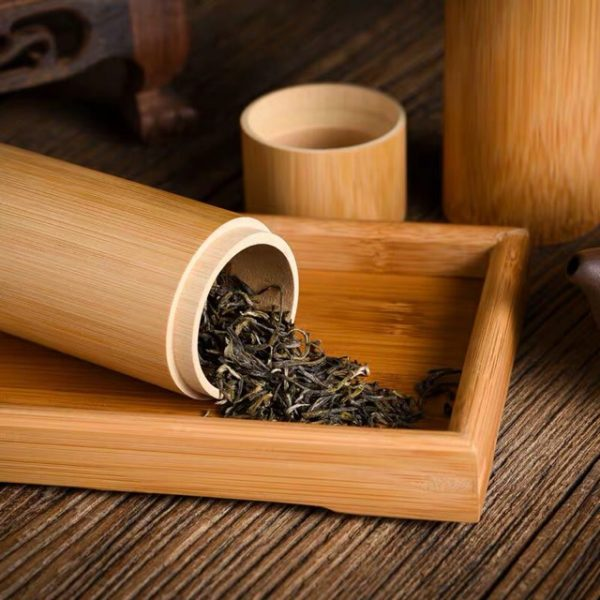 Hộp đựng trà bằng tre